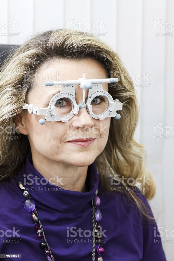 optometrie: patient's eyes stock photo