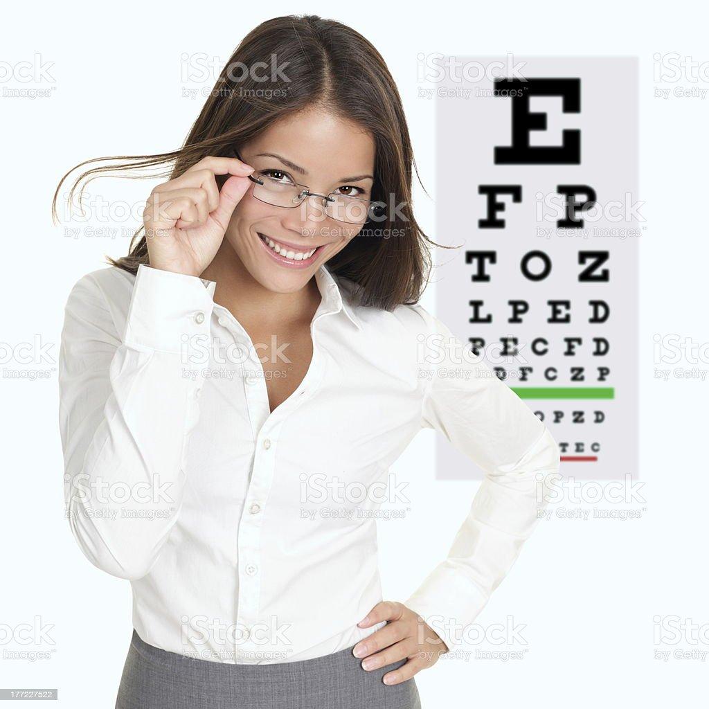 Optometrist / optician stock photo