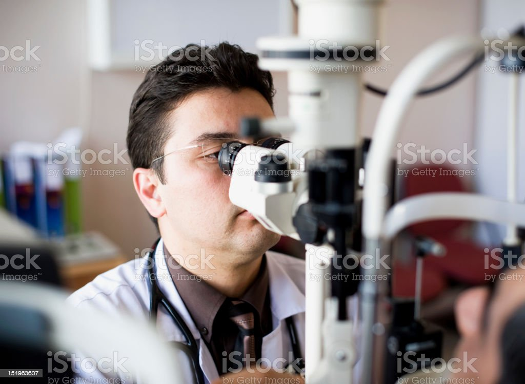 Optometrist stock photo