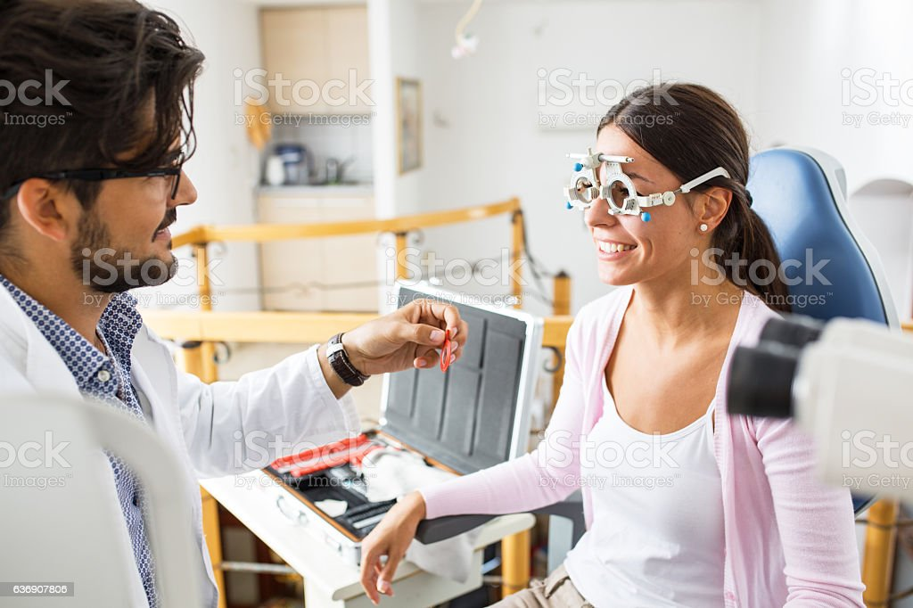 Optometrist stock photo