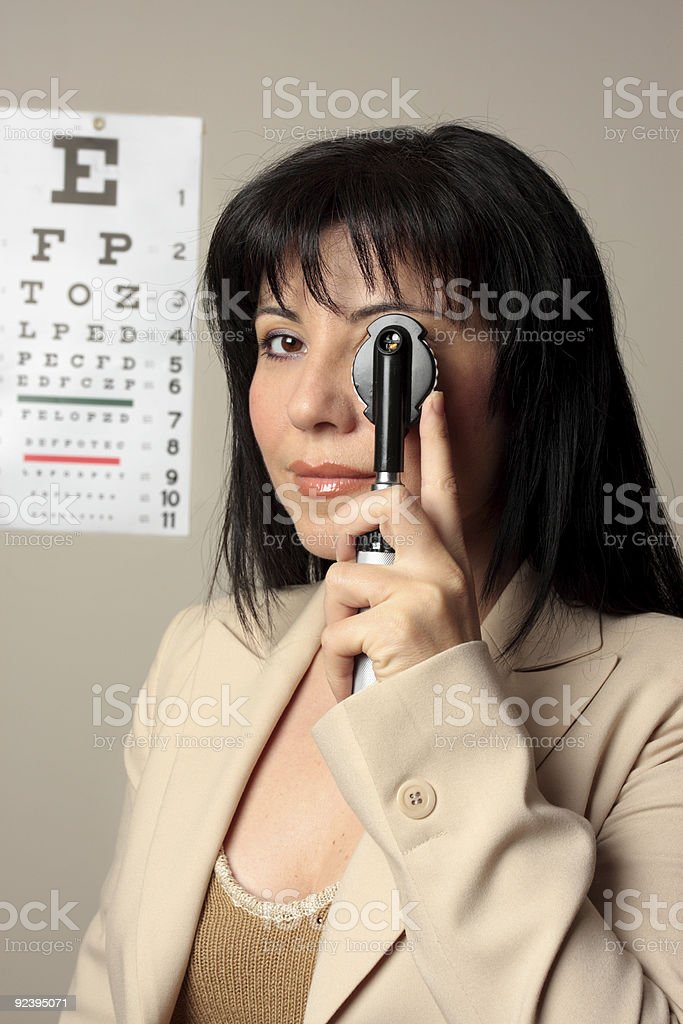 Optometrist vision checkup stock photo