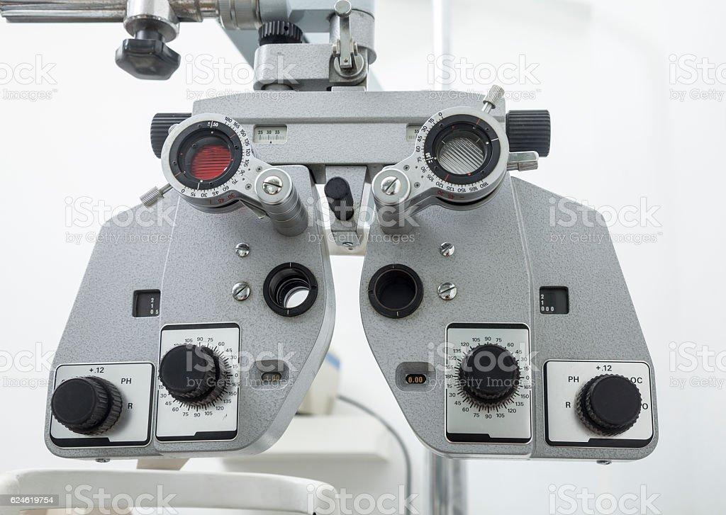 Optometry equipment stock photo
