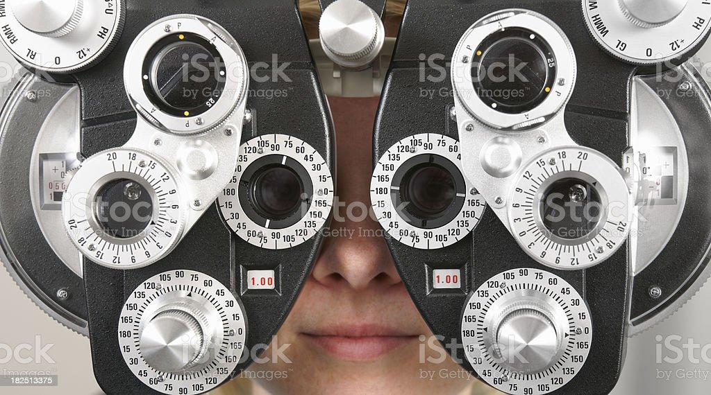 Optometry exam royalty-free stock photo