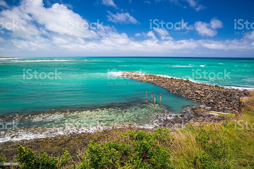 Opunake Coastline stock photo