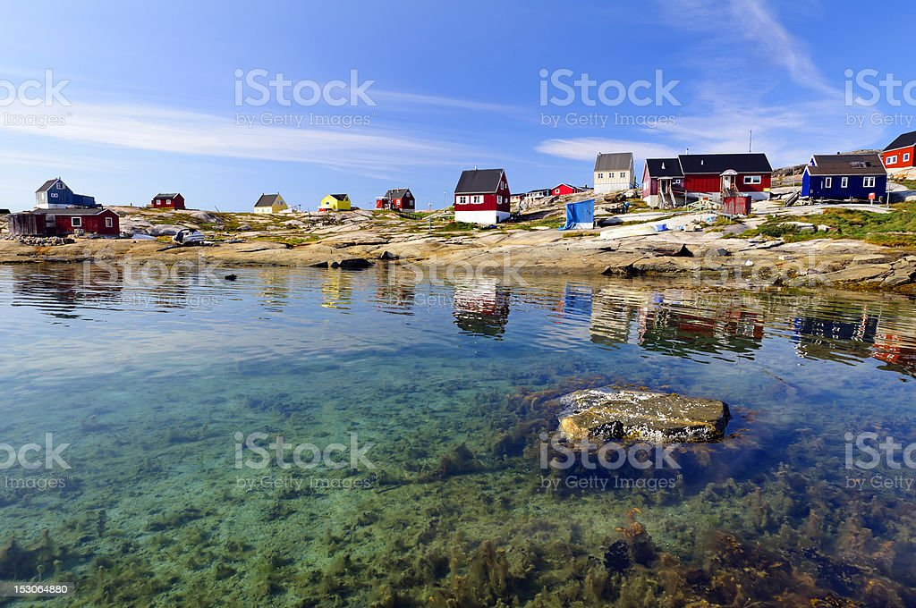Oqaatsut Settlement (Rodebay) stock photo