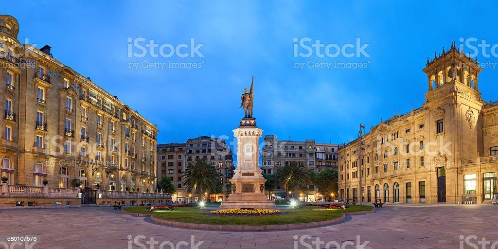 Oquendo square in San Sebastian stock photo