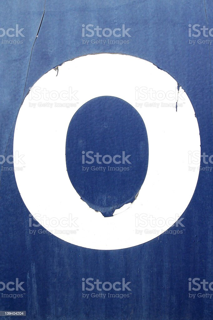 O or 0 royalty-free stock photo