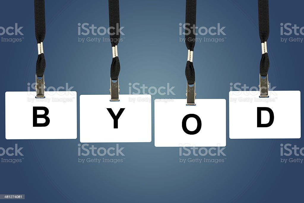 BYOD or Bring Your Own Device stock photo