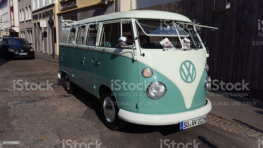 VW T1 or Bulli - the famous VW Bus stock photo