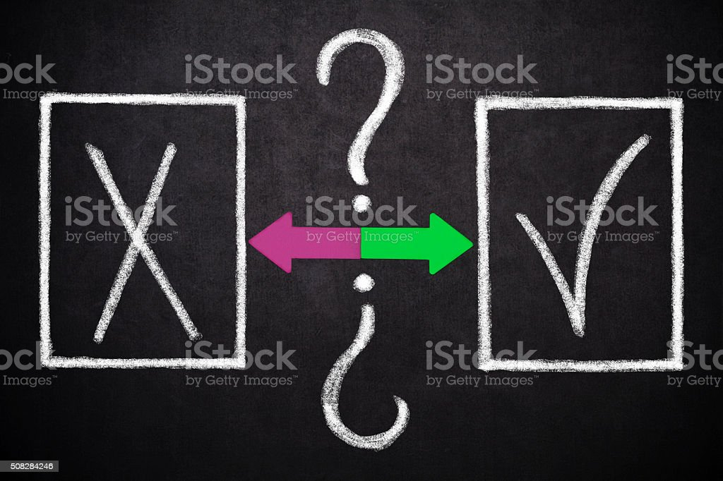 X or  check mark stock photo
