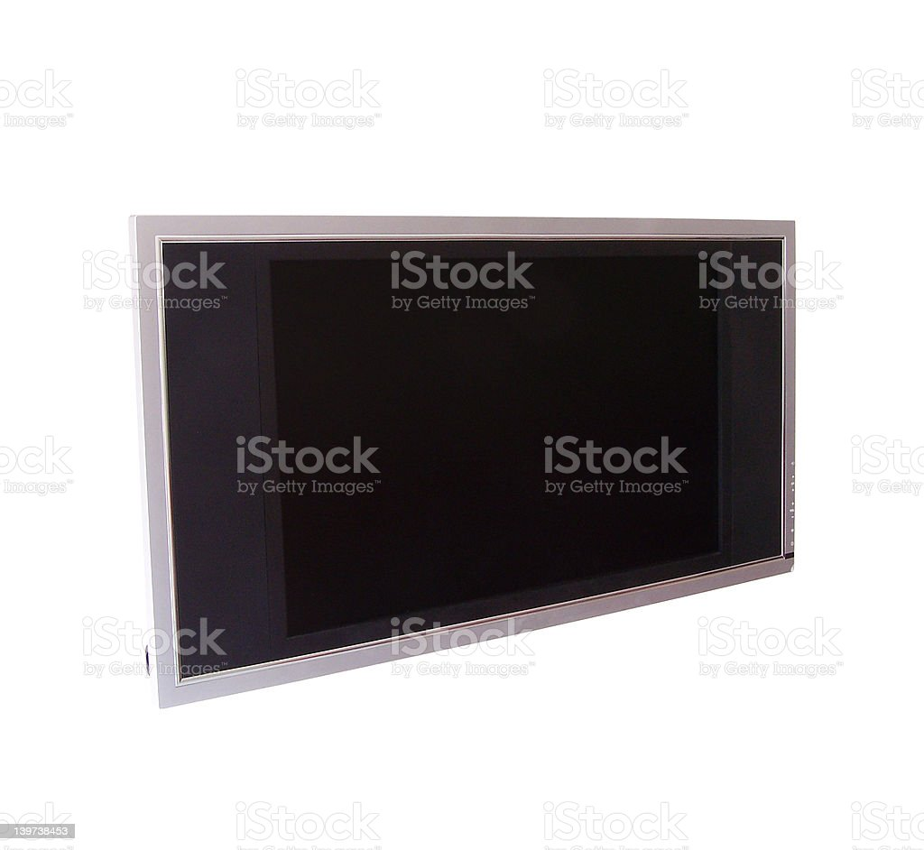 TV or computer monitor on the wall royalty-free stock photo