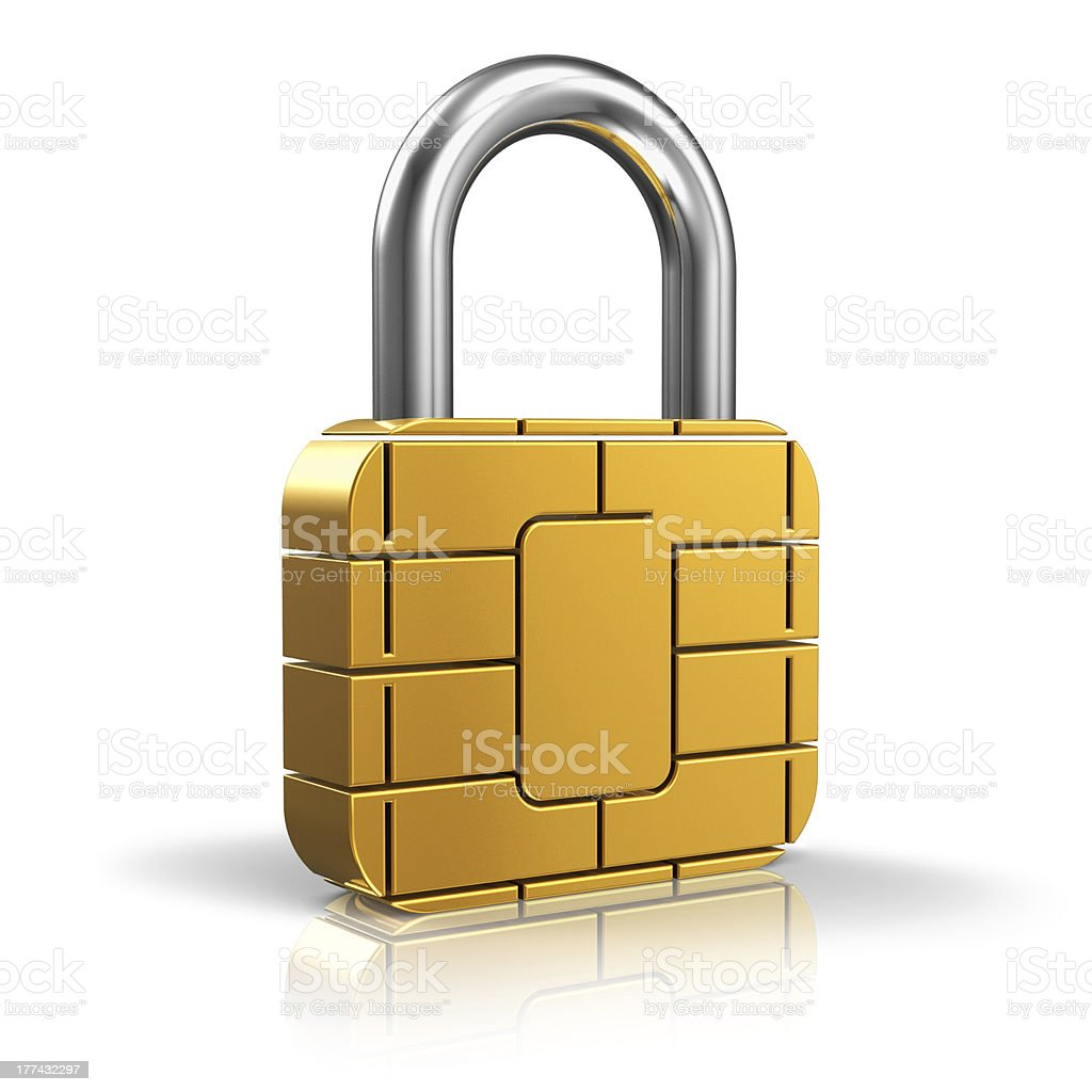SIM or credit card security concept stock photo