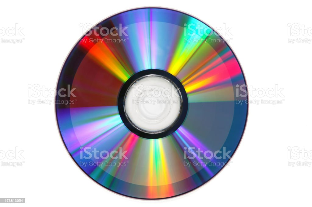 CD-ROM or DVD(with clipping path) stock photo