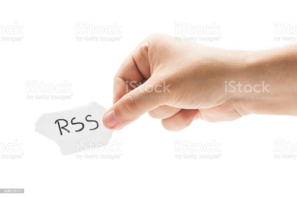 RSS or Really Simple Syndication stock photo