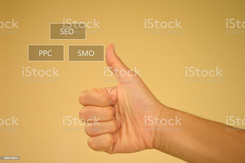 SEM or Search Engine Marketing model stock photo