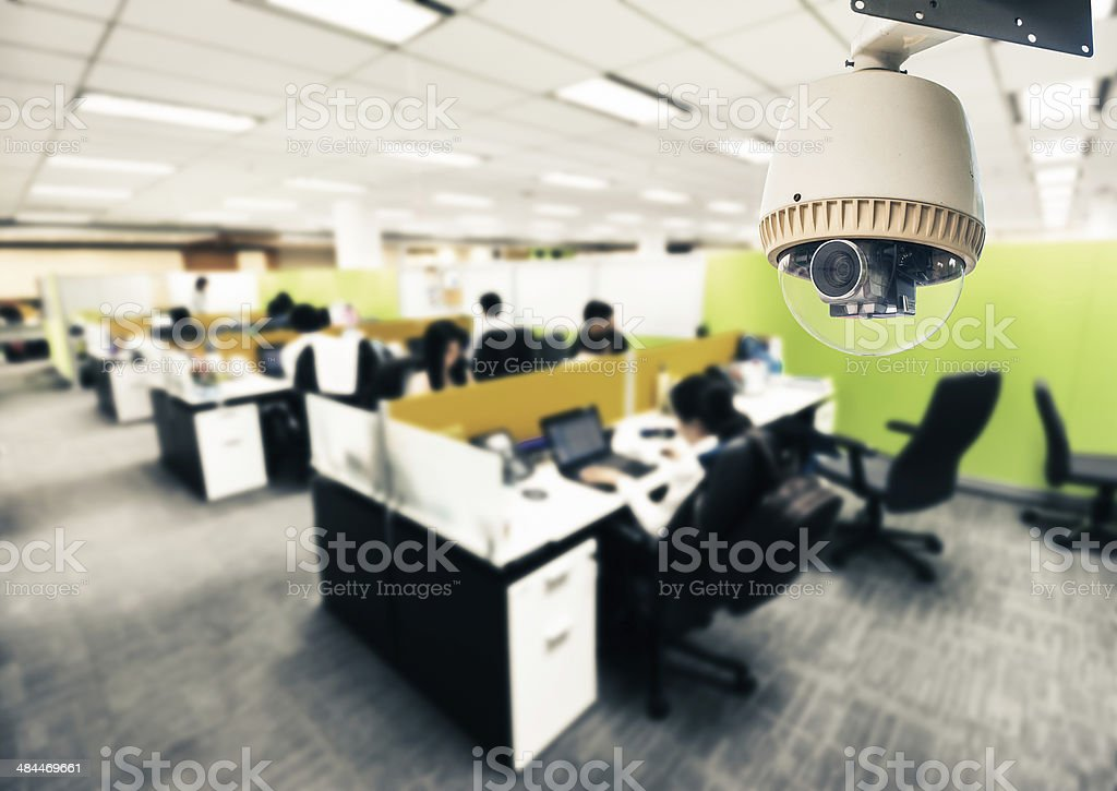 CCTV or surveillance operating in office stock photo