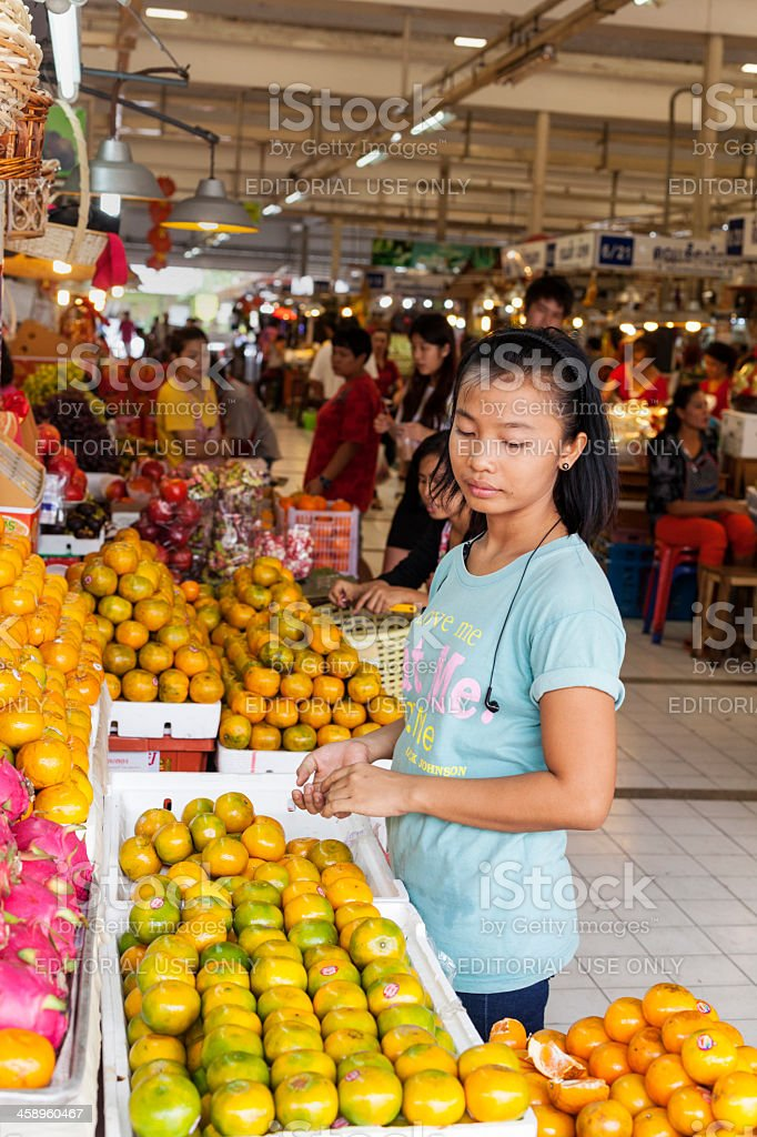 Or Tor Kor Market with food stalls royalty-free stock photo