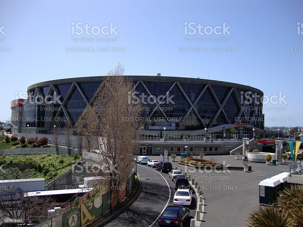 Oracle Arena in Oakland stock photo