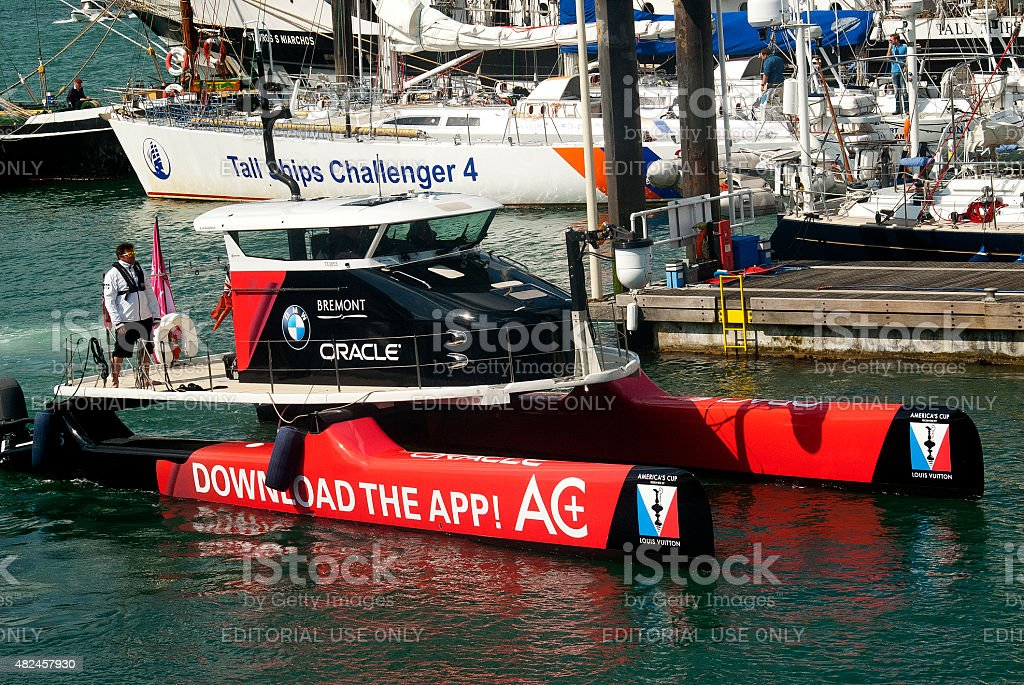 Oracle Camera Boat stock photo