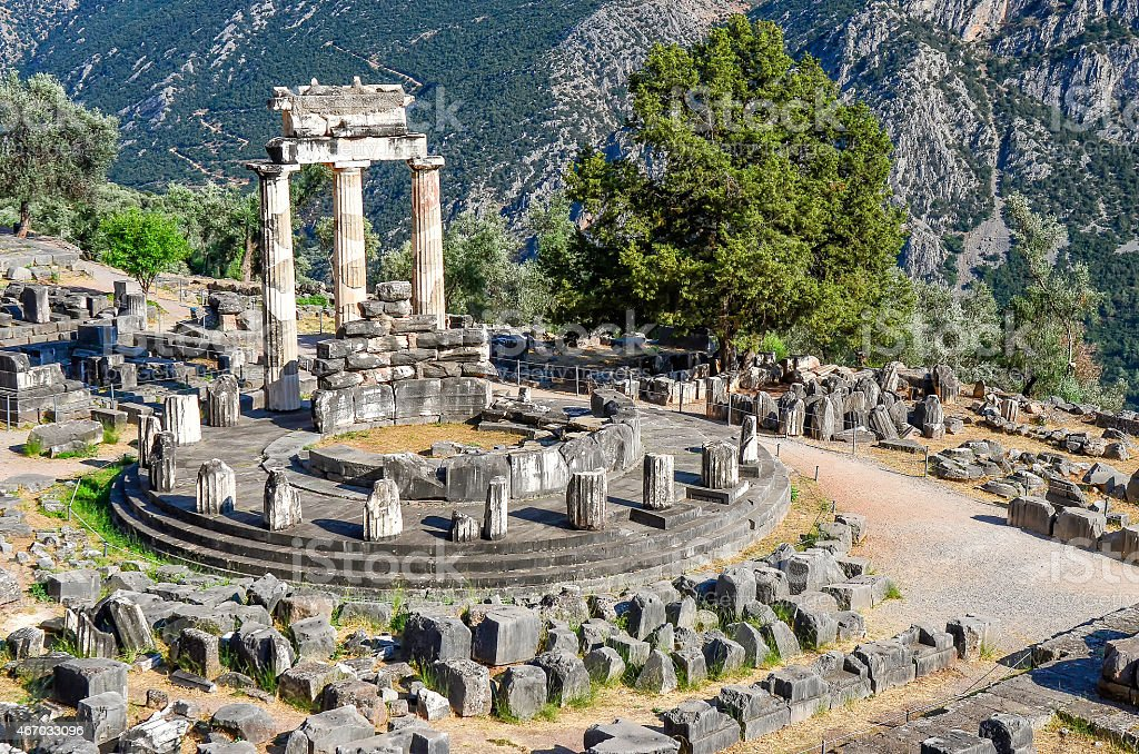 Oracle of Delphi stock photo