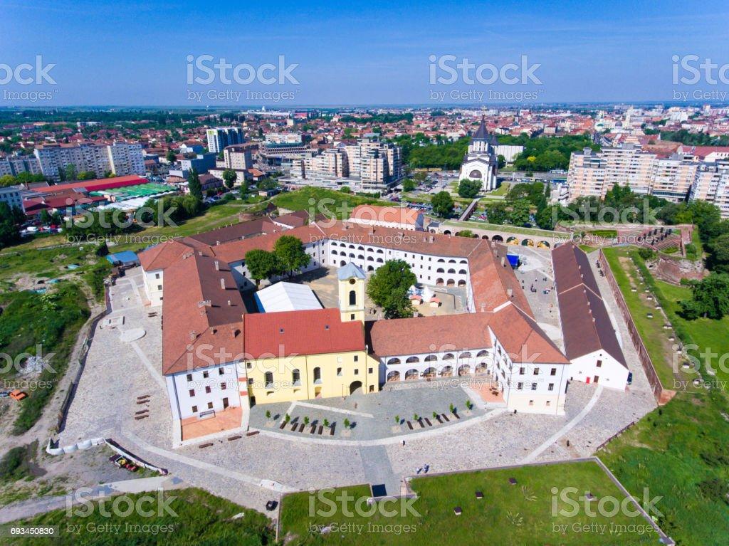 Oradea center fortress main tourist attraction stock photo