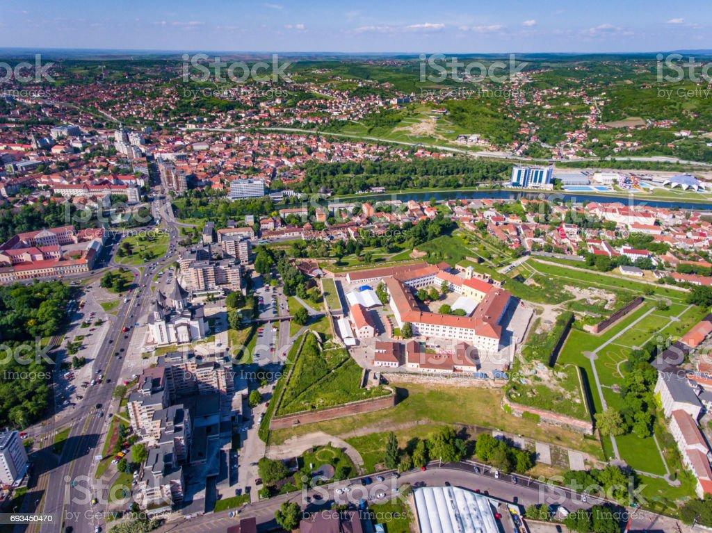 Oradea citadel from above stock photo