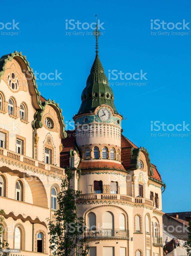Oradea city center Union Square iconic building stock photo