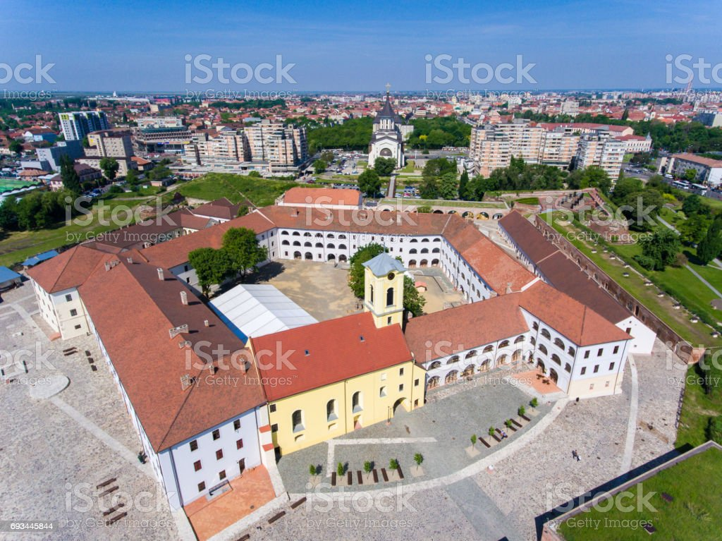 Oradea fortress, now the most important tourist attraction stock photo