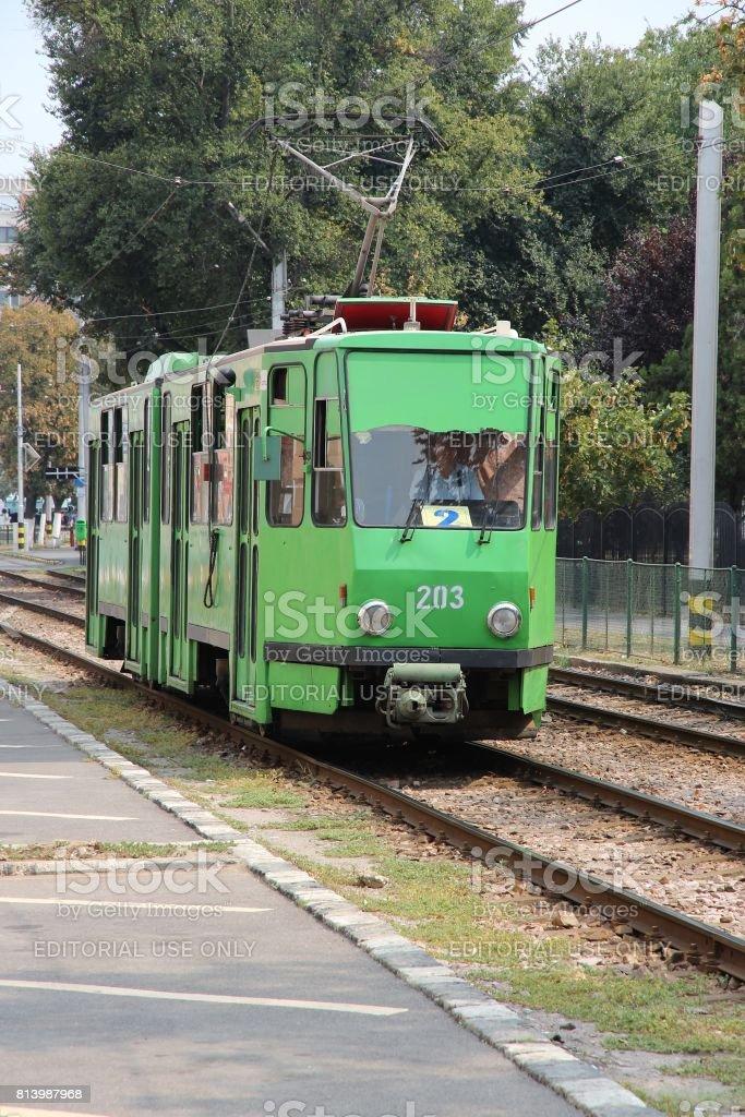 Oradea public transportation stock photo