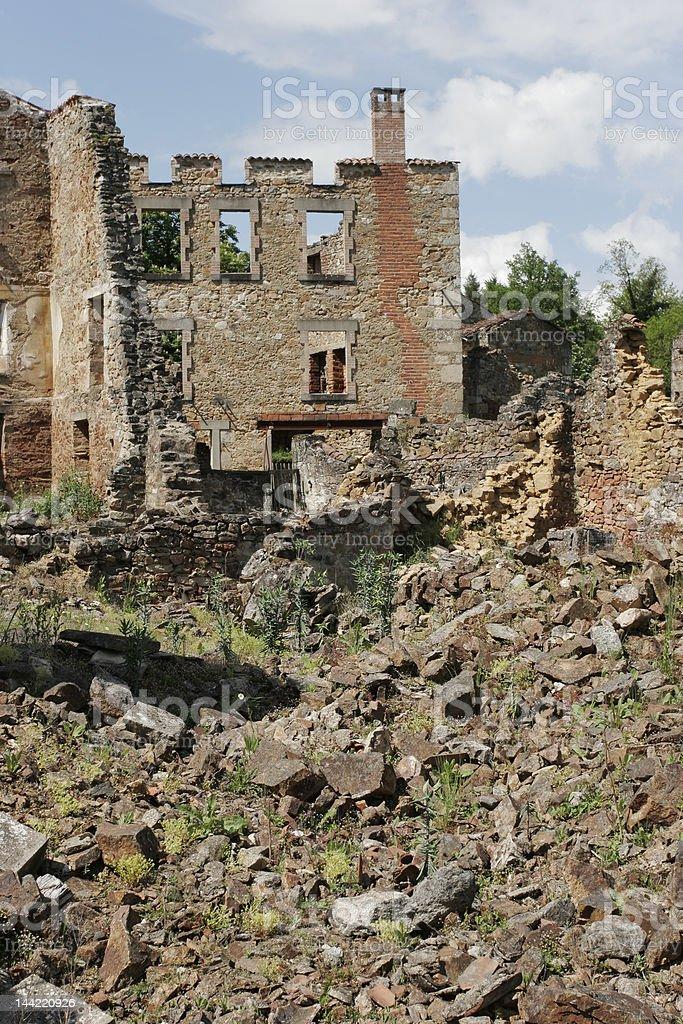 Oradour martyr village, France royalty-free stock photo