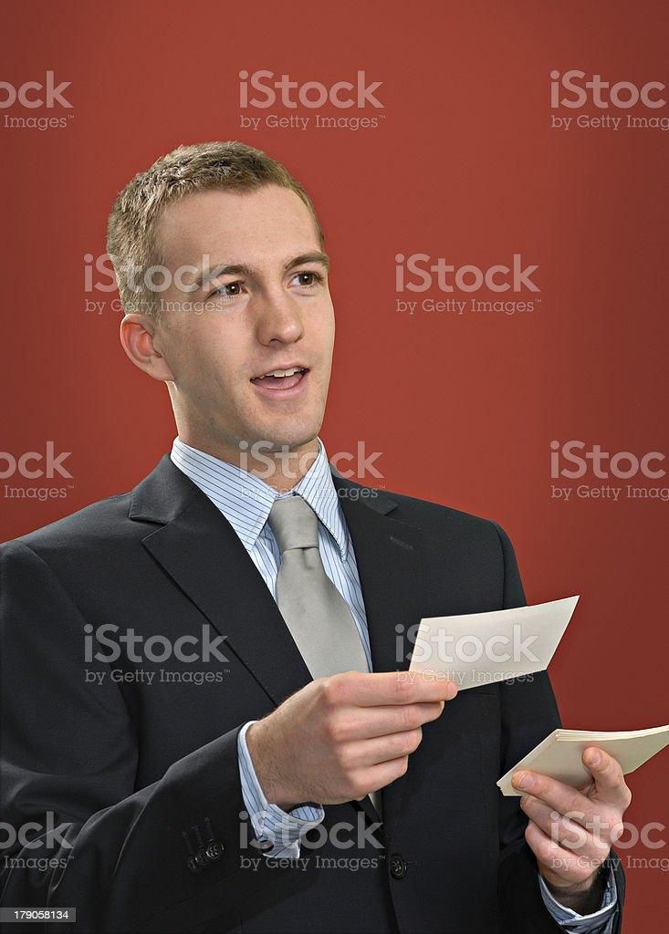 Oral Presentation royalty-free stock photo