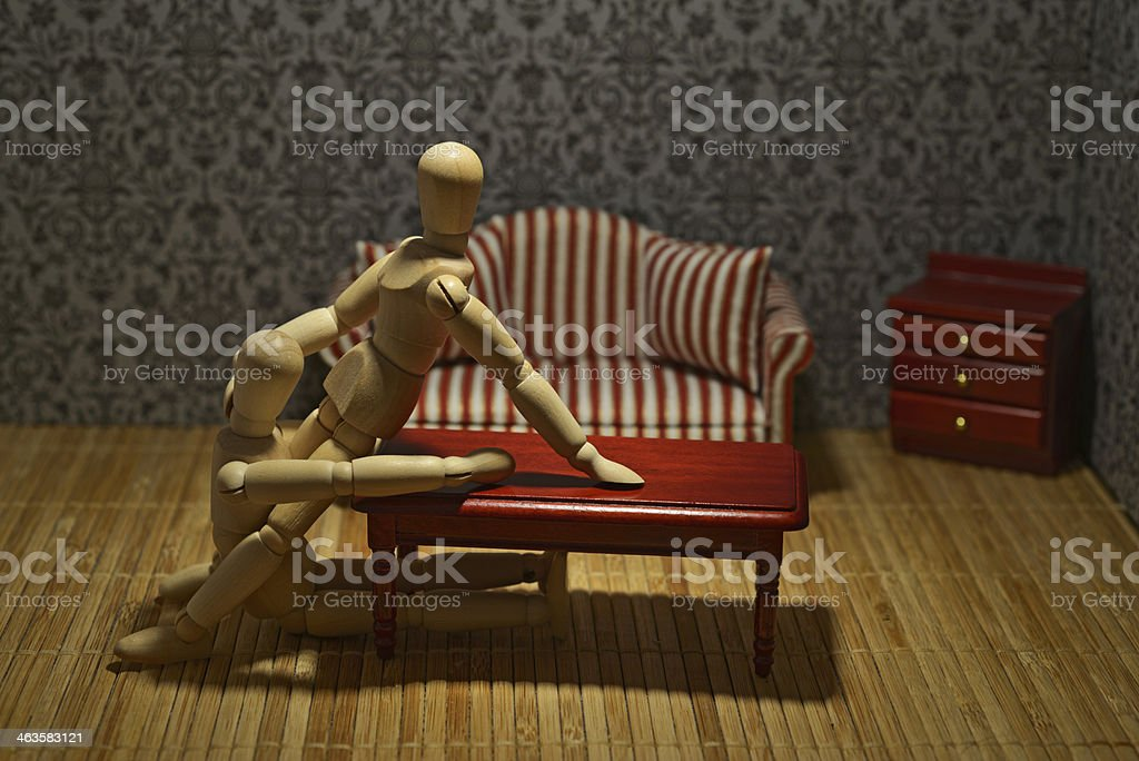 Oral sex in the living room royalty-free stock photo