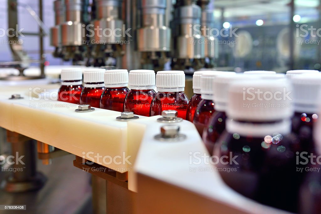 Oral Solution Production Line stock photo