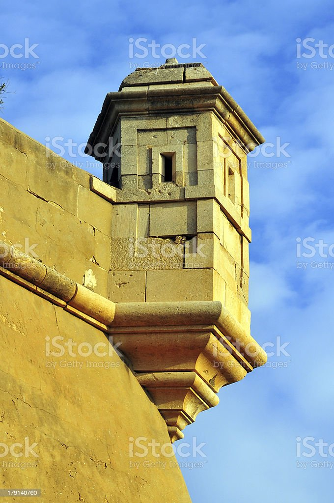 Oran, Algeria: bartizan and sky - Spanish fortress stock photo