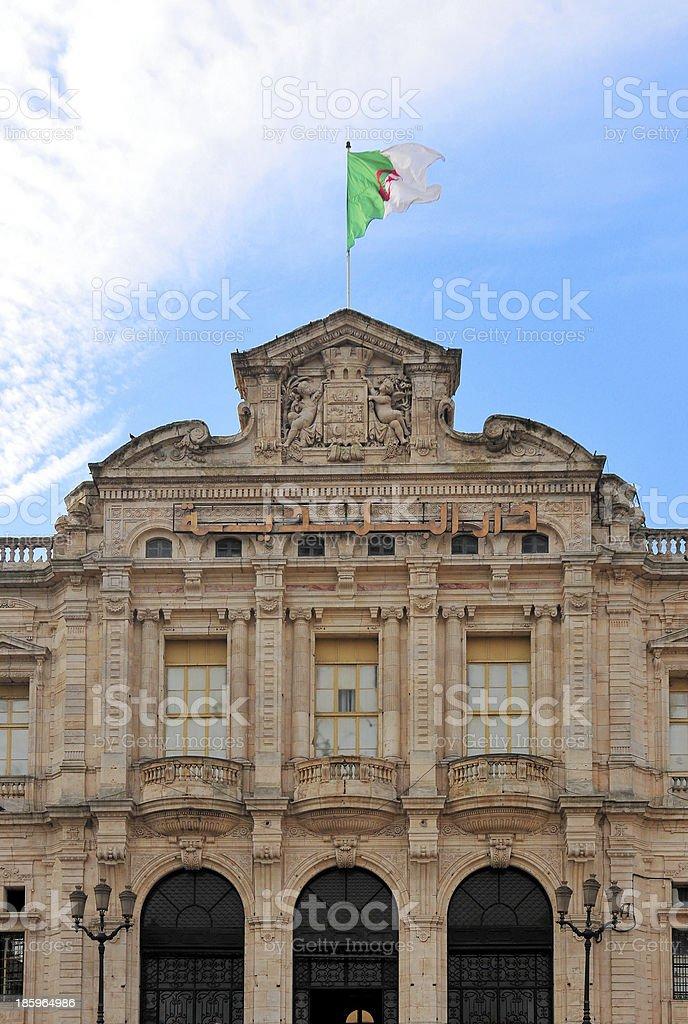 Oran, Algeria: City Hall stock photo