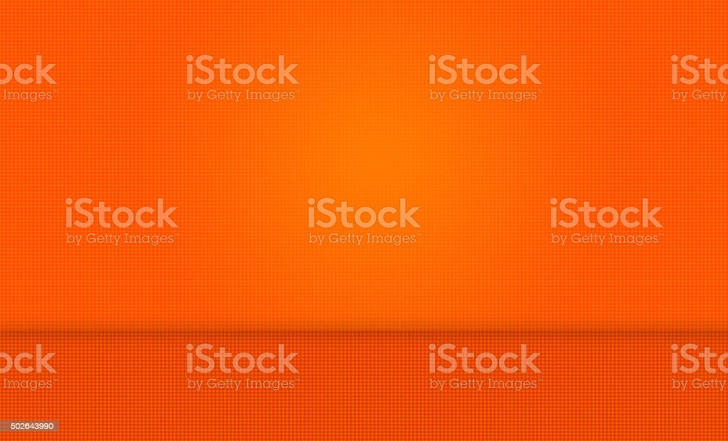 Orange Abstract Background with Wall and Floor stock photo