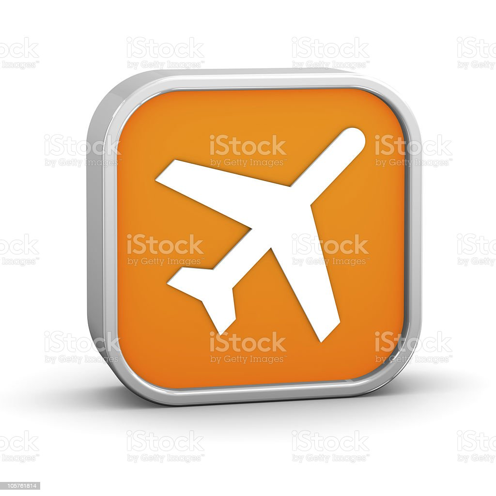 Orange Airport Sign royalty-free stock photo