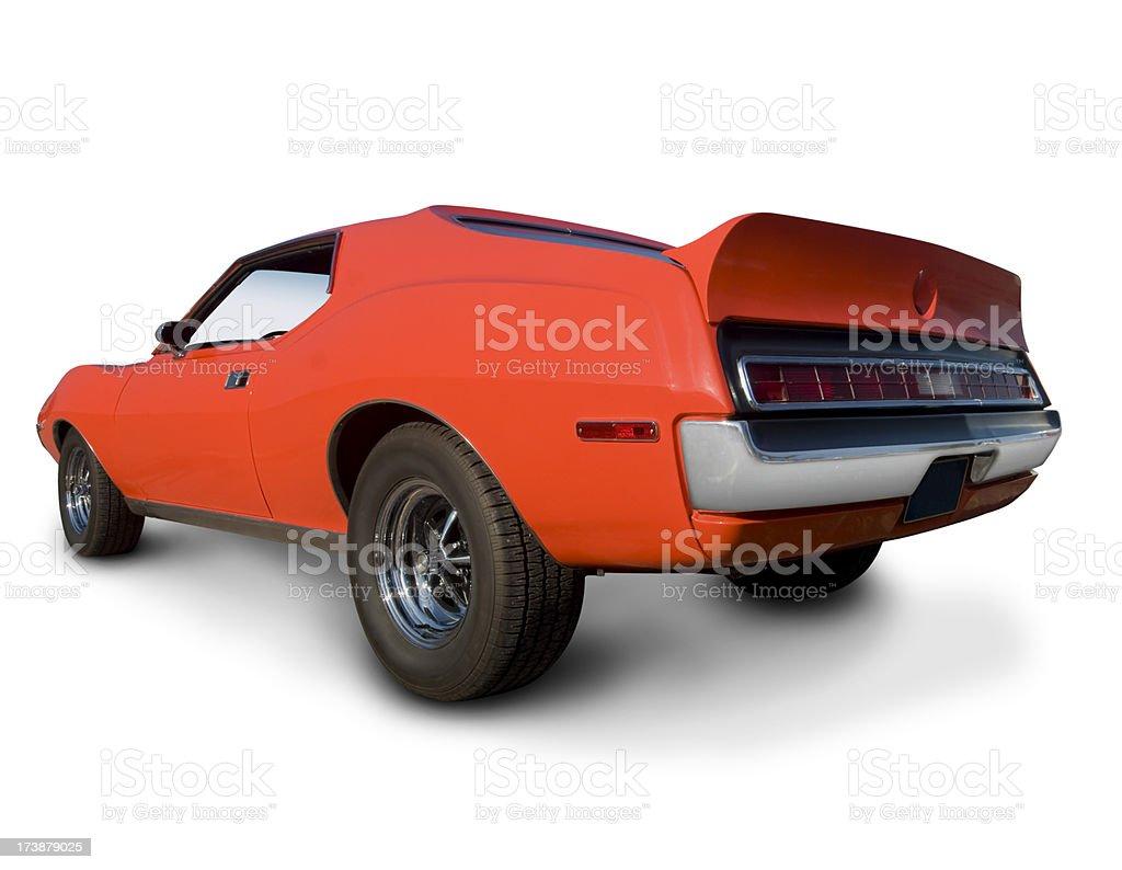 Orange AMC Muscle Car royalty-free stock photo