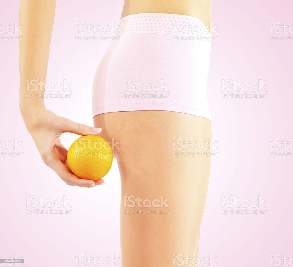 Orange and body royalty-free stock photo
