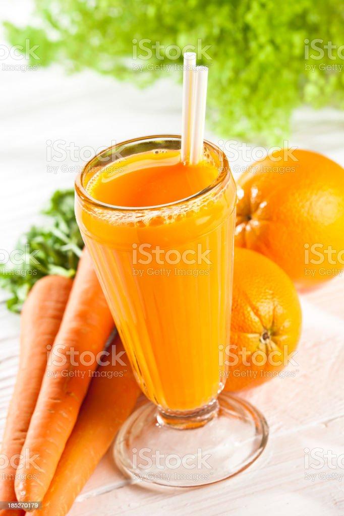 Orange and Carrot Juice royalty-free stock photo