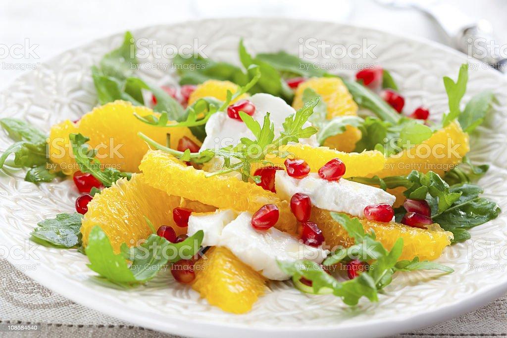 Orange and cheese salad royalty-free stock photo