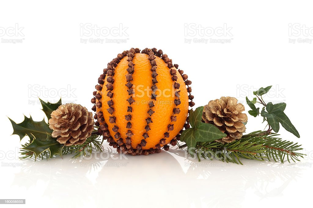 Orange and Clove Pomander stock photo
