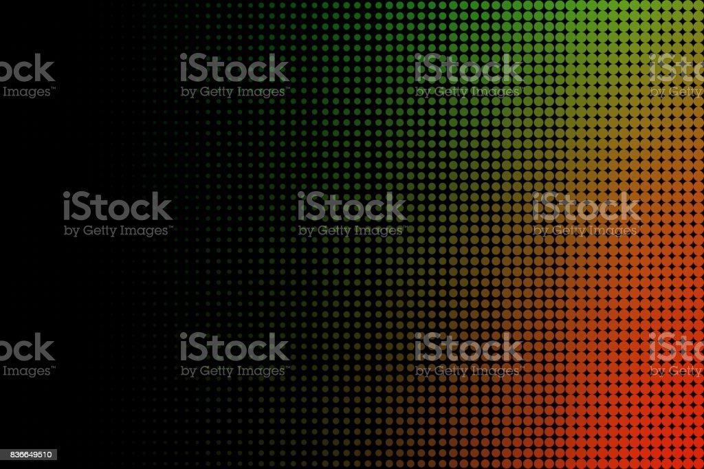 Orange and Green Halftone Abstract Background stock photo