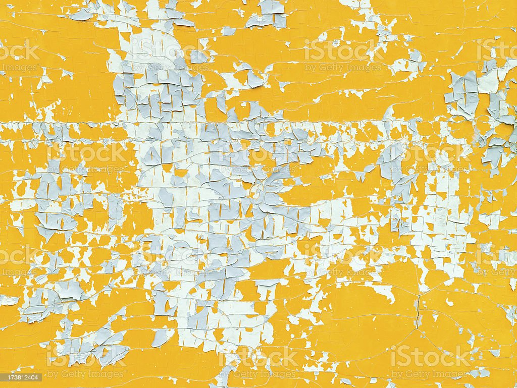 Orange and grey peeling paint royalty-free stock photo