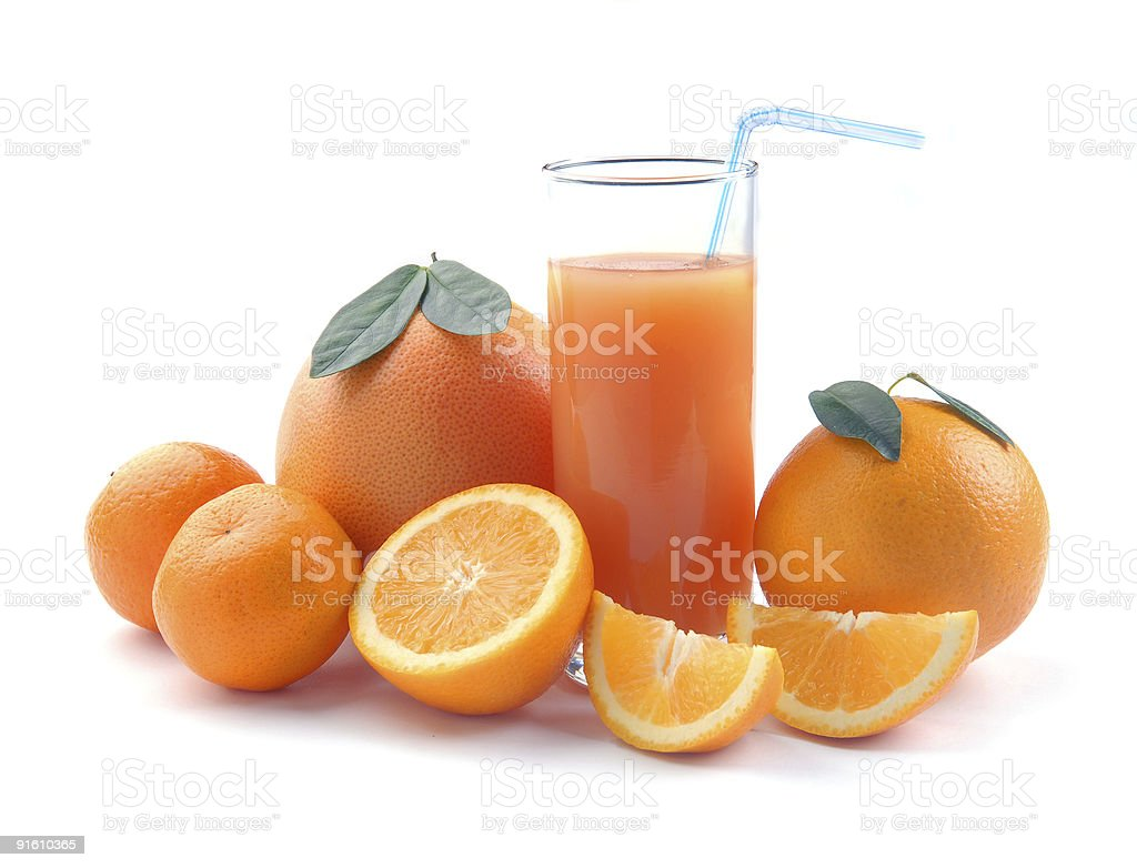 orange and juice glass royalty-free stock photo