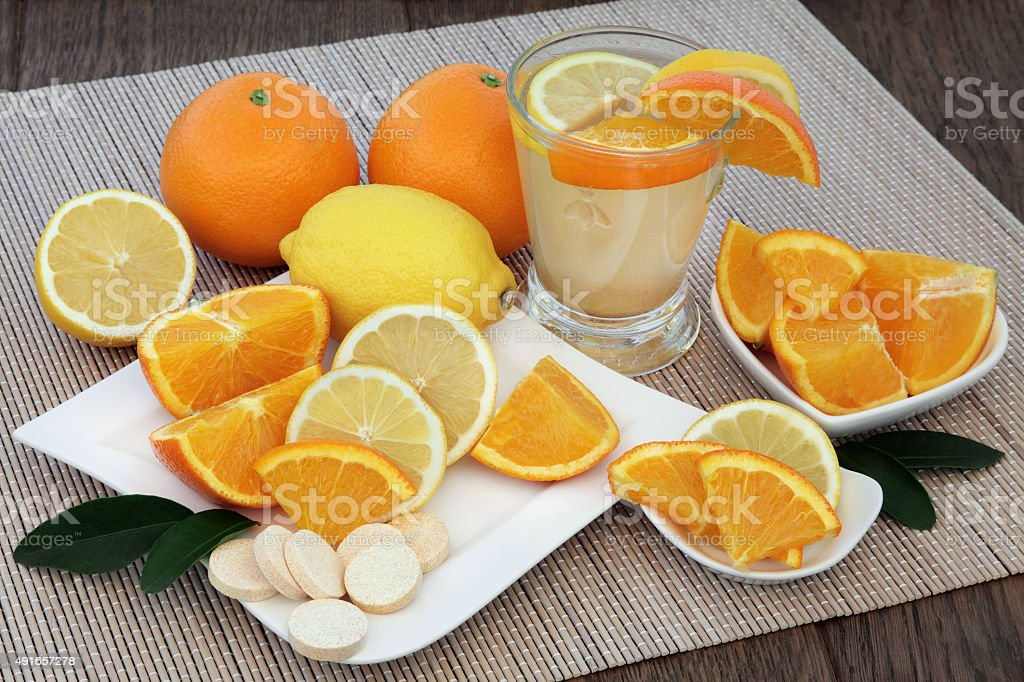 Orange and Lemon Drink stock photo