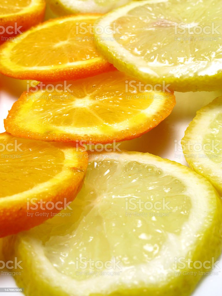 orange and lemon royalty-free stock photo