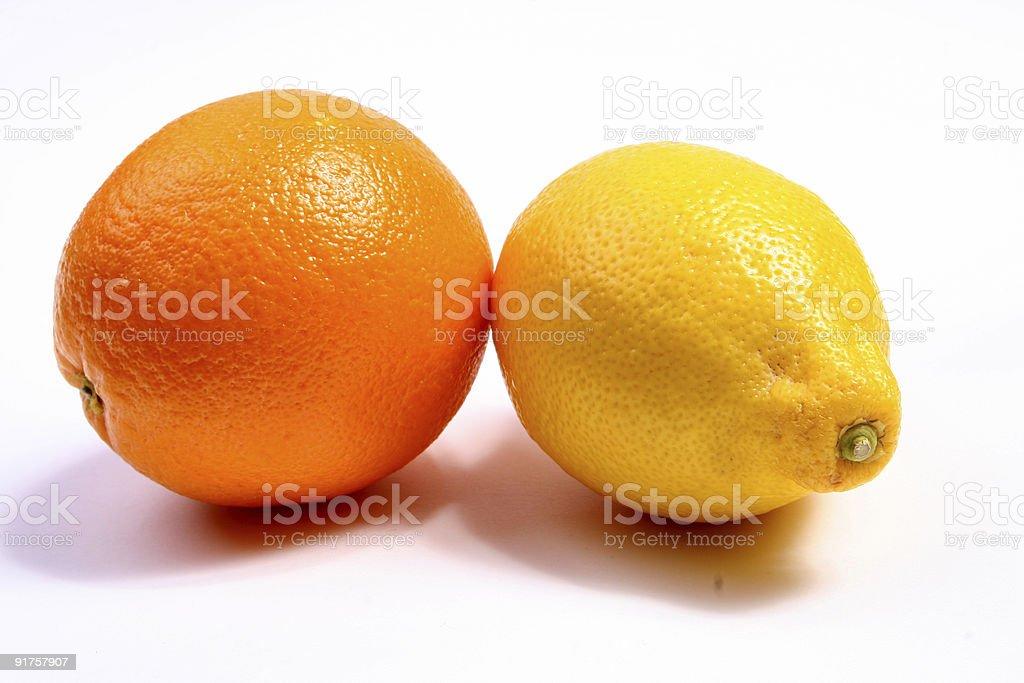 orange and lemon royalty-free stock photo