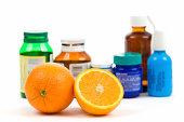 Orange and medicine