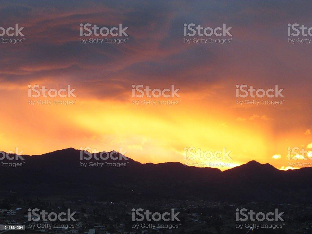 Orange and pink Sunset royalty-free stock photo
